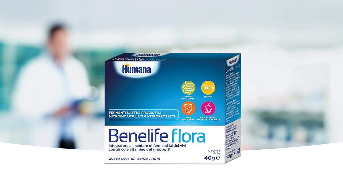 Benelife Flora Integratore Linea Gastrointestinale Humana